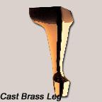Cast Brass Leg
