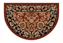 Picture of Red & Black Kashan Hearth Rug