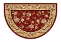 Picture of Red & Biege Floral Hearth Rug