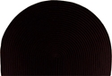 Picture of Half-Round Braided Polypropylene Hearth Rug - Black Solid Color Braid