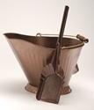 Picture of Antique Copper Hod and Shovel Set