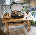 Picture of Primo Grills Teak Table for Oval XL Grill PRM603