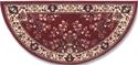 Picture of 44'' Burgundy Oriental Virgin Wool Half-Round Rug