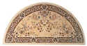Picture of 56'' Beige Oriental Virgin Wool Half-Round Rug