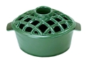 Picture of 2.2 Qt. Lattice Steamer Green Enamel