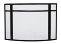 Picture of Panelled 3-Fold/Curved Screen - Black