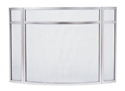 Picture of Panelled 3-Fold/Curved Screen - Brushed Steel