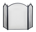 Picture of Arched Front & Sides 3-Fold Screen - Black